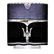 Maserati Hood - Grille Emblems Shower Curtain