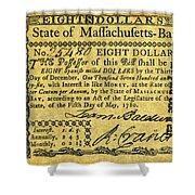 Massachusetts Banknote Shower Curtain
