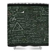 Maths Formula On Chalkboard Shower Curtain