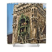 Mechanical Clock In Munich Germany Shower Curtain