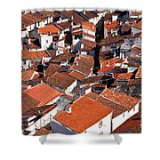 Medieval Town Rooftops Shower Curtain