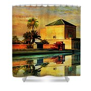 Medina Of Marakkesh Shower Curtain by Catf