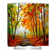 Melody Of Autumn Shower Curtain