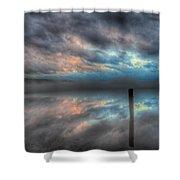 Melvin Bay Fog Shower Curtain