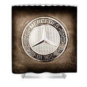 Mercedes-benz 6.3 Amg Gullwing Emblem Shower Curtain