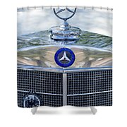 Mercedes-benz Hood Ornament Shower Curtain