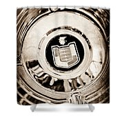Mercury Wheel Emblem Shower Curtain
