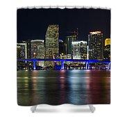 Miami Downtown Skyline Shower Curtain