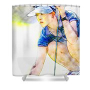 Michelle Wie - Third Round Of The Lpga Lotte Championship Shower Curtain