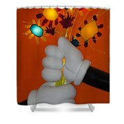 Mickeys Flowers Shower Curtain