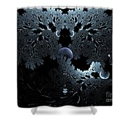 Midnight Ocean Waves Shower Curtain