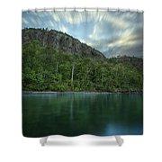 2 Mile Point Cliffs Shower Curtain