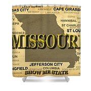 Missouri State Pride Map Silhouette  Shower Curtain