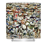Mitchell's Piano Mecanique Shower Curtain
