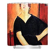 Modigliani's Madame Amedee -- Woman With Cigarette Shower Curtain
