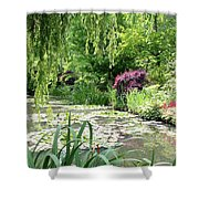 Monets Waterlily Pond Shower Curtain