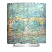 Monet's Waterloo Bridge In London At Sunset Shower Curtain