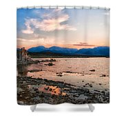 Mono Lake Sunset Shower Curtain