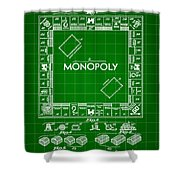 Monopoly Patent 1935 - Green Shower Curtain