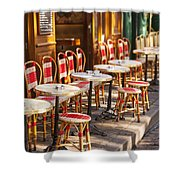 Montmartre Cafe Shower Curtain