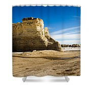 Monument Rocks Of Kansas Shower Curtain