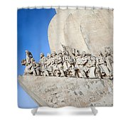 Monument To The Discoveries In Lisbon Shower Curtain