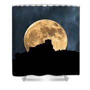 Moonstruck Over Tuscany Shower Curtain