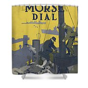 Morse Dry Dock Dial Shower Curtain