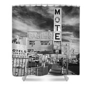 2 Motels Shower Curtain