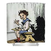 Mother Goose: Jack Horner Shower Curtain by Granger