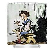 Mother Goose: Jack Horner Shower Curtain