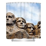 Mount Rushmore Monument Shower Curtain