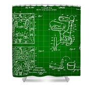 Mouse Trap Board Game Patent 1962 - Green Shower Curtain