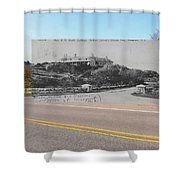 Mrs. J.r. Bush's Indian Spring Cottage In Newport Ri Shower Curtain