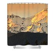 Mt. Shasta Sunset Panorama Shower Curtain