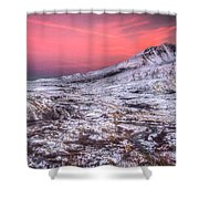 Mt. St. Helens Sunset Shower Curtain