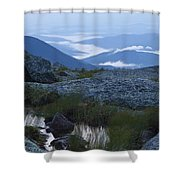 Mt. Washington Blue Hour Shower Curtain