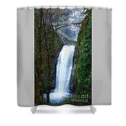 Multnomah Falls Bridge Shower Curtain