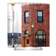 Munising Michigan - City Hall Shower Curtain