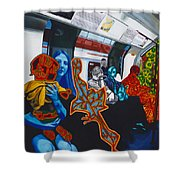 Mutinous Objects Gather In Darkness. The Underground Shower Curtain
