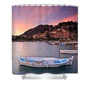 Nafplio Harbour Shower Curtain