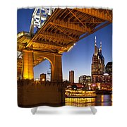 Nashville Tennessee Shower Curtain by Brian Jannsen