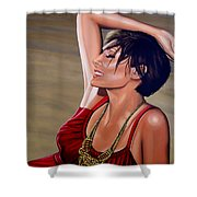 Natalie Imbruglia Painting Shower Curtain