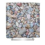 Natural Rock Pebble Backgorund Shower Curtain