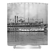 New Orleans Steamboat Shower Curtain