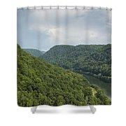 New River Scene 13 B Shower Curtain