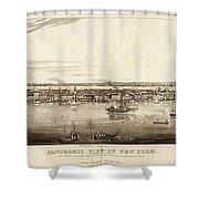New York City, 1840 Shower Curtain