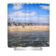 Newport Beach In Orange County California Shower Curtain