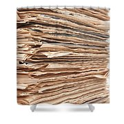 Newspaper Stack Shower Curtain
