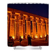 Night View From Temple Shower Curtain